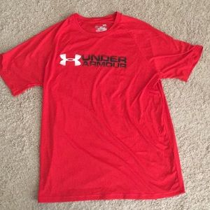 Under Armour red dri-fit workout t-shirt